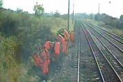 Rail workers in